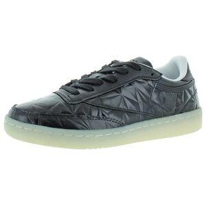 Reebok Womens Club C 85 Hype Metallic Sneakers Leather Classic - Black/White (7 Medium (B,M)), Women's, Multicolor