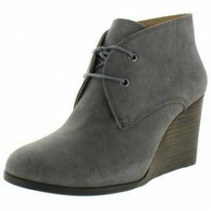 Lucky Brand Womens Shiijo Wedge Boots Suede Ankle - Storm (7.5 Medium (B,M)), Women's, Blue