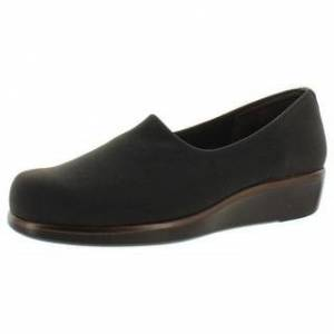 SAS Womens Bliss Casual Shoes Slip On Wedge - Brown - 8.5 Narrow (AA,N) (Narrow - Brown - 8.5 Narrow (AA,N)), Women's(microfiber)