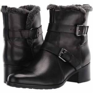 Naturalizer Women's Shoes Deanne Leather Closed Toe Ankle Fashion Boots (Medium - Black Wp Leather - 8)