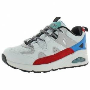 Skechers Womens Uno - Krazyy Kewl Athletic Shoes Lifestyle Memory Foam (White/Multi - 7.5 Medium (B,M)), Women's