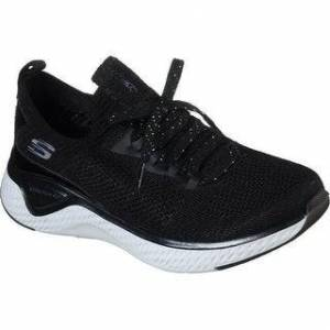 Skechers Womens/Ladies Solar Fuse Gravity Experience Sneaker (Black - 9), Women's(knit, metallic)