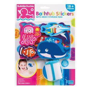 4M Foam Bathtub Stickers w/ Mesh Storage Bag - Ocean Animals (STEM - 2-4 Years), Blue