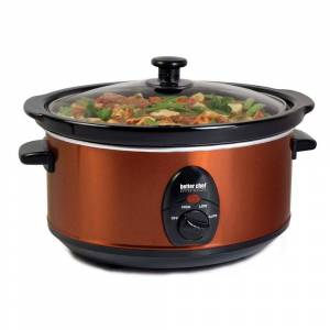 Better Chef 3.5 Liter Oval Slow Cooker in Copper (Black)