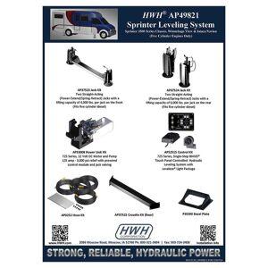 HWH BI-AXIS Hydraulic Leveling System, Sprinter