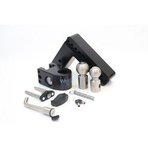 Weigh Safe LLC Weigh Safe Aluminum Drop Hitch w/Keyed Alike Key Lock and Hitch Pin, Black Cerakote Finish