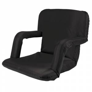 Picnic Time Ventura Seat Portable Recliner Chair, Black