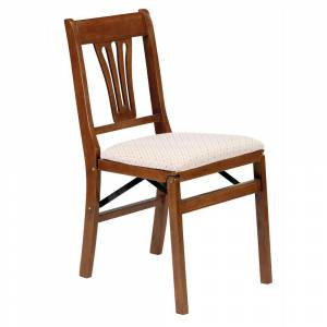 Meco Corp Urn Back Folding Chair, Fruitwood