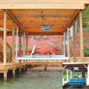 Doozie Boat Lifts Doozie Boat House 4000-lb. Center Mount Kit With Overhead Beams