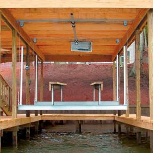 Doozie Boat Lifts Doozie Boat House 4000-lb. Pontoon Cradle Lift Kit With Overhead Beams