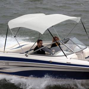 Shademate Sunbrella Stainless 3-Bow Bimini Top 6'L x 46