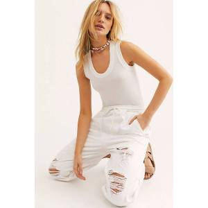 Intimately U-neck Tank by Intimately at Free People, White, L
