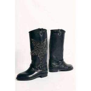 ESSEutEsse Counting Stars Tall Moto Boots by ESSEutEsse at Free People, Black, EU 39