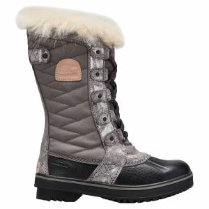 Sorel Girl's Tofino II Youth Winter Boots  - Quarry/Natural Tan - Size: 5