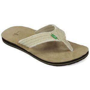 Sanuk Men's Fraid Not Sandals  - Natural - Size: 10