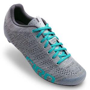 Giro Women's Empire E70 Knit Cycling Shoes  - Grey/Glacier - Size: 39