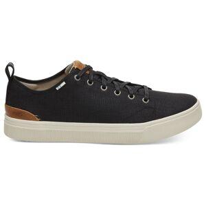 Toms Men's TRVL LITE Low Casual Shoes  - Black Heritage Canvas - Size: 12
