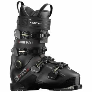 Salomon Men's S/Pro HV 120 Ski Boots '21  - Black/Red/Belluga - Size: 26.5