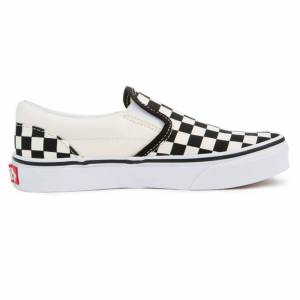 Vans Toddler's Classic Slip On Casual Shoes  - Checkerboard - Size: 12