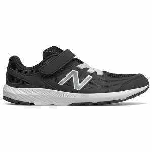 New Balance 519 V1 Kids Running Shoes  - Black/White - Size: 11