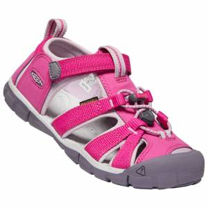 Keen Girl's Seacamp II CNX Sandals  - Flint Stone/Ocean Wave - Size: 11