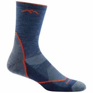 Darn Tough Vermont Men's Light Hiker Micro Crew LC Socks  - Denim - Size: Medium