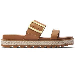 Sorel Women's Roaming Buckle Slide Jute Sandals  - Camel Brown - Size: 10