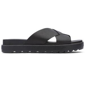 Sorel Women's Roaming Criss Cross Slide Sandals  - Camel Brown - Size: 6