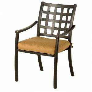 Hanamint Stratford Dining Chair  - Black/Brown - Size: One Size