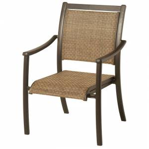 Hanamint Stratford Sling Dining Chair  - Black/Brown - Size: One Size