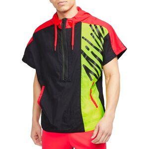 Nike Men's Lightweight Short-Sleeve ½ Zip Training Hoodie, XL, Black - Black - Size: XL