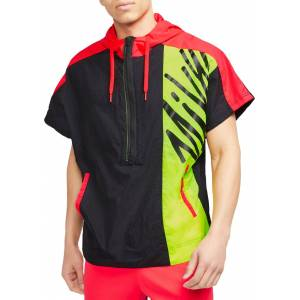 Nike Men's Lightweight Short-Sleeve ½ Zip Training Hoodie, Large, Black - Black - Size: L