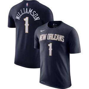 Nike Men's New Orleans Pelicans Zion Williamson #1 Dri-FIT Navy T-Shirt, Large, Blue - Blue - Size: L