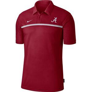 Nike Men's Alabama Crimson Tide Crimson Dri-FIT Football Sideline Polo, Large, Red