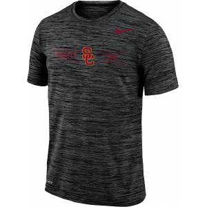 Nike Men's USC Trojans Velocity 'Fight On!' Football Black T-Shirt, Small