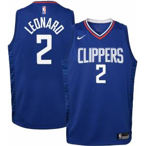 Nike Youth Los Angeles Clippers Kawhi Leonard #2 Royal Dri-FIT Icon Jersey, Kids, Small, Blue - Blue - Size: S