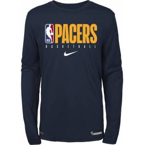 Nike Youth Indiana Pacers Dri-FIT Practice Long Sleeve Shirt, Kids, Medium, Blue
