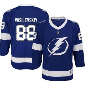 NHL Youth Tampa Bay Lightning Andrei Vasilevskiy #88 Premier Home Jersey, Kids, L/XL, Blue