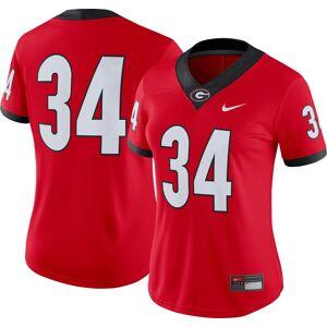Nike Women's Georgia Bulldogs #34 Red Dri-FIT Game Football Jersey, Large