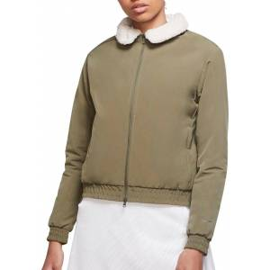 Nike Women's Bomber Golf Jacket, XXL, Green