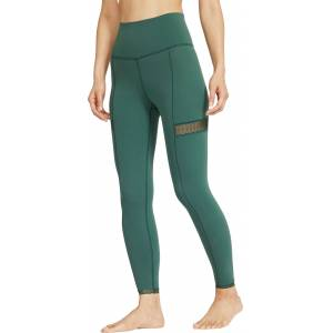 Nike Women's Yoga Lace 7/8 Tights, Small, Green