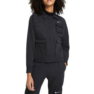 Nike Women's Sportswear Swoosh Woven Jacket, XL, Black