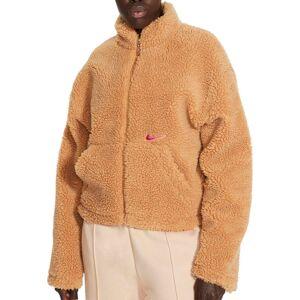 Nike Women's Sportswear Swoosh Sherpa Jacket, XXL, Flax