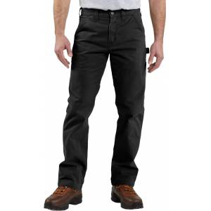 Carhartt Men's Washed Twill Dungarees, 32 Waist 32 Length, Black