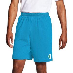 Champion Men's Classic Jersey Big C Logo Shorts, Medium, Blue - Blue - Size: M