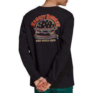adidas Originals Men's Simpsons Krusty Burger Long Sleeve Shirt, XL, Black