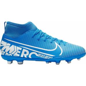 Nike Kids' Mercurial Superfly 7 Club FG Soccer Cleats, Boys', Blue - Blue - Size: One Size