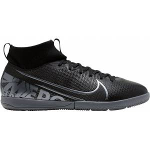 Nike Kids' Mercurial Superfly 7 Academy Indoor Soccer Shoes, Black