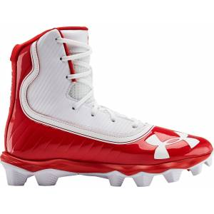 Under Armour Kids' Highlight RM Football Cleats, Red - Red - Size: One Size
