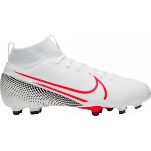 Nike Kids' Mercurial Superfly 7 Academy FG Soccer Cleats, Boys', White